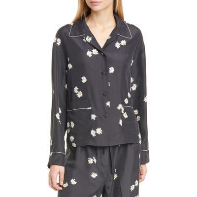 The Marc Jacobs The Pajama Daisy Print Silk Shirt, Black