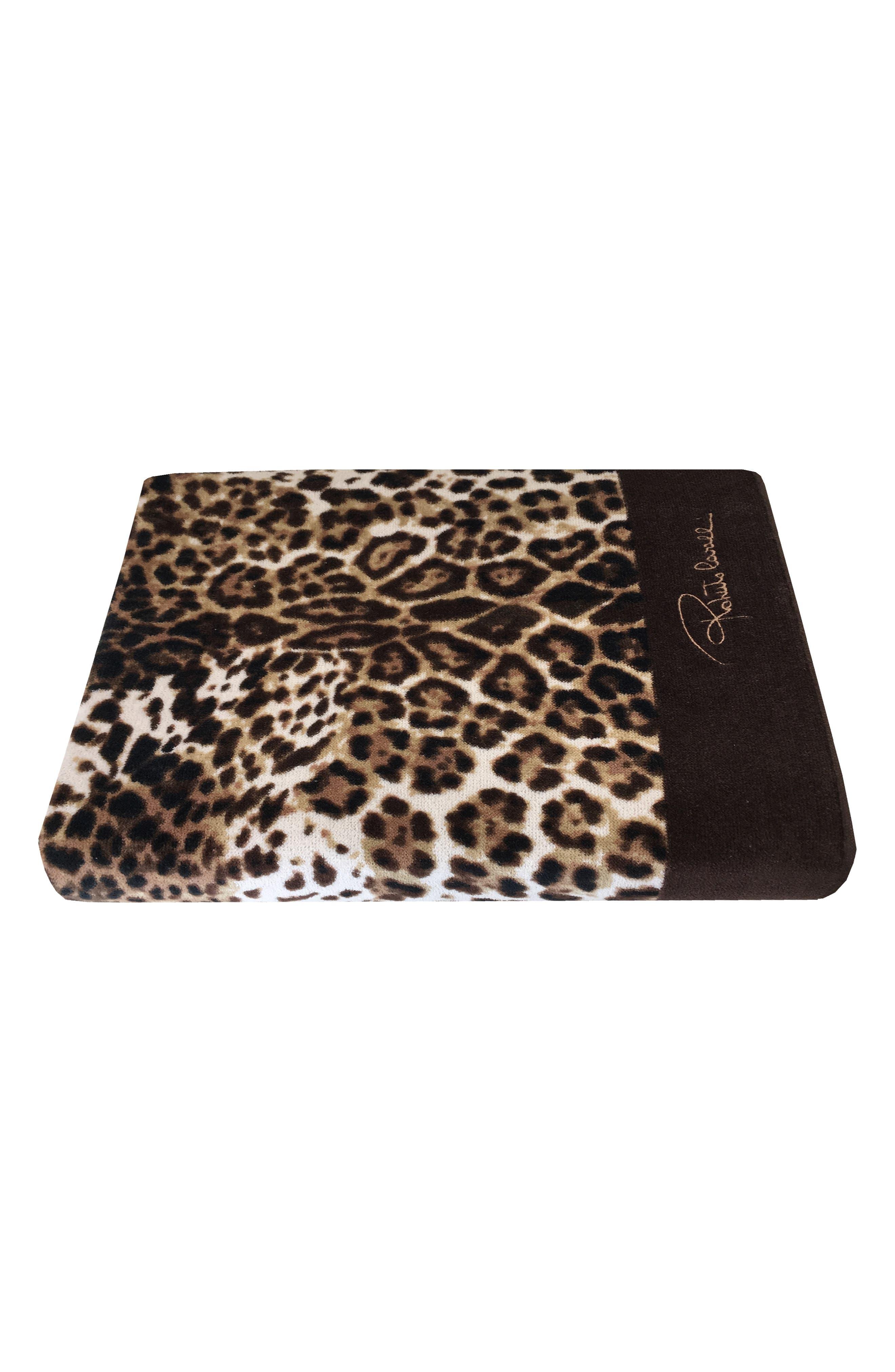 Roberto Cavalli Bravo Bath Towel Size One Size  Brown