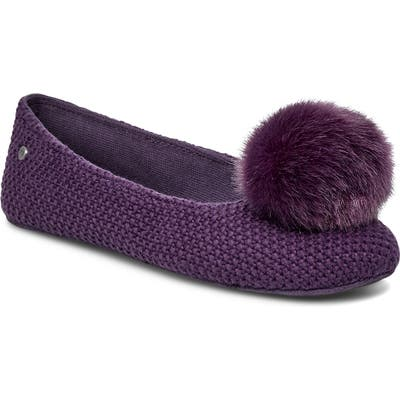 UGG Andi Pompom Slipper, Purple