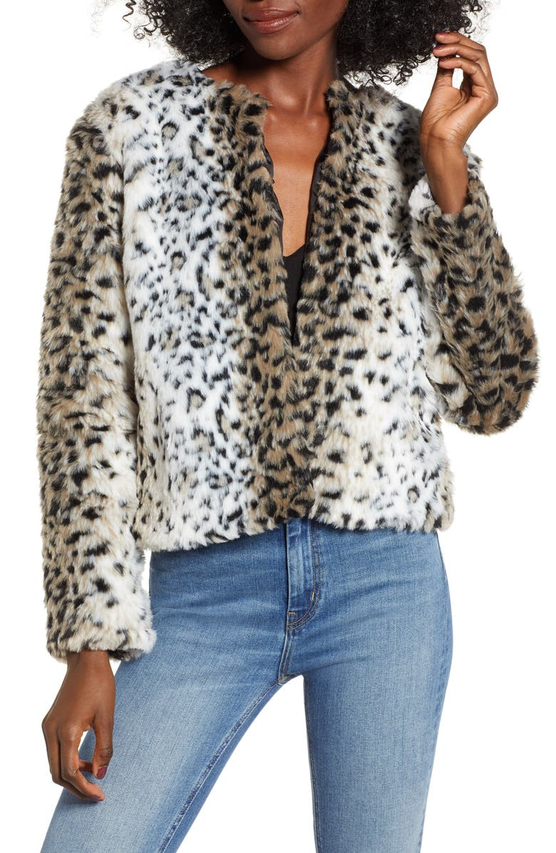dd283e8d4397 BB Dakota Wild Thing Snow Leopard Print Faux Fur Jacket | Nordstrom
