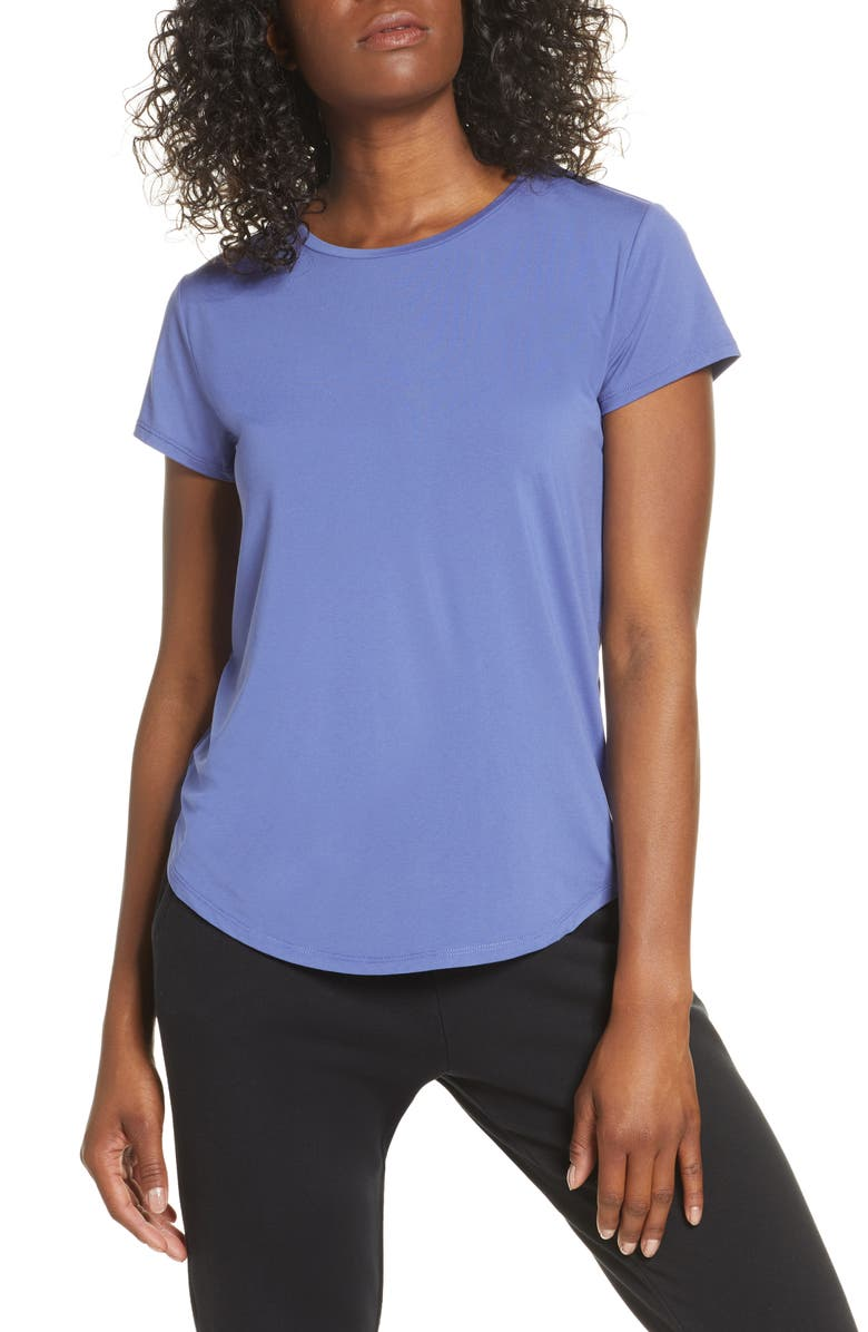 ZELLA Strength Performance Tee, Main, color, BLUE MARLIN