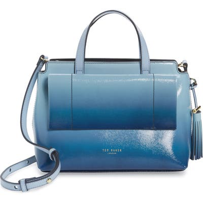 Ted Baker London Mehrr Ombre Patent Tassel Tote - Blue