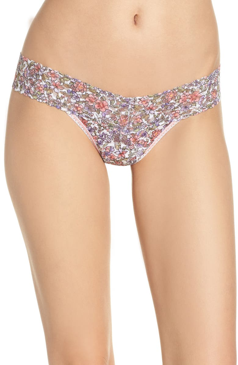 HANKY PANKY Calico Low Rise Thong, Main, color, 650