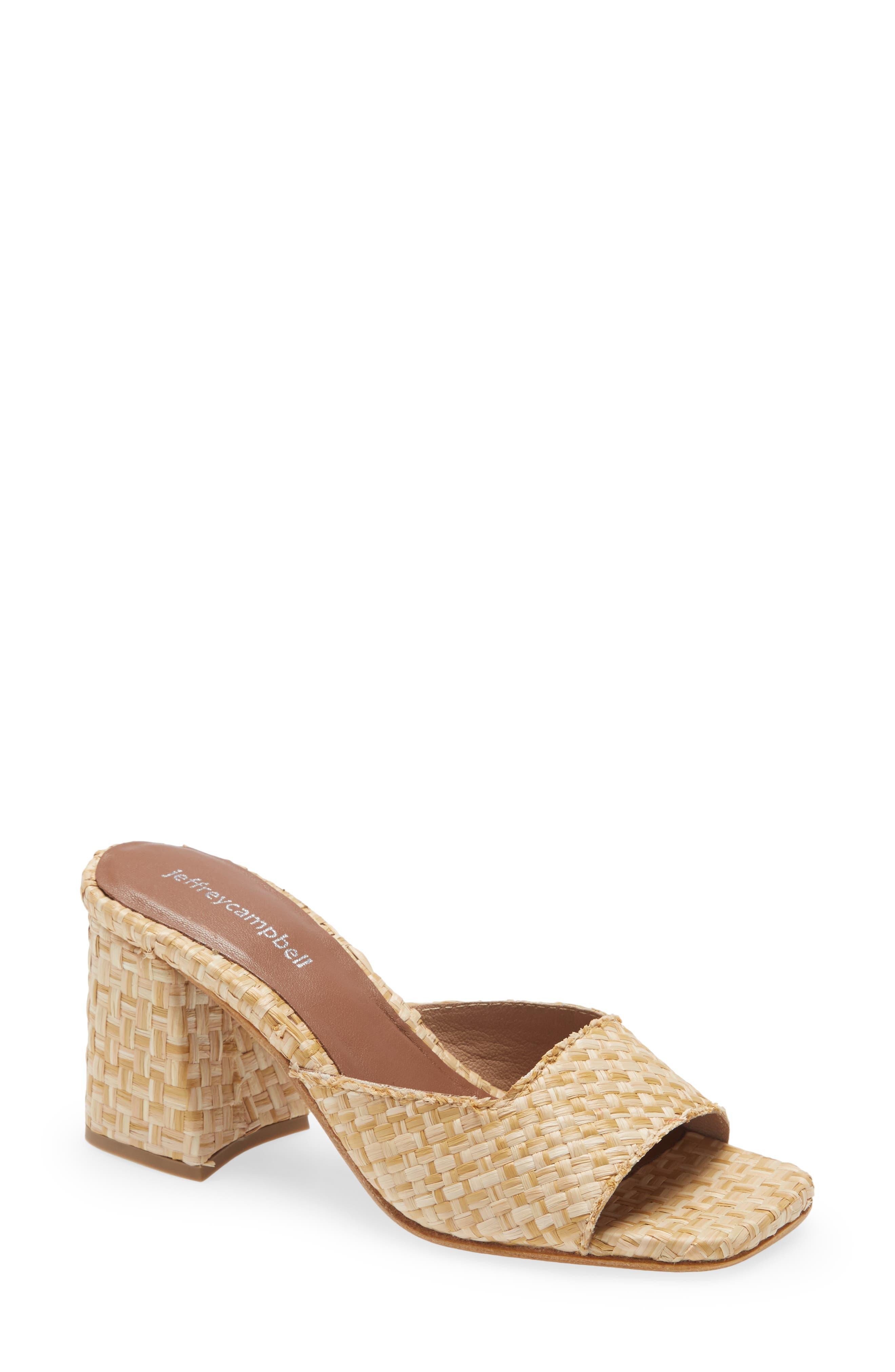 Melange Woven Slide Sandal