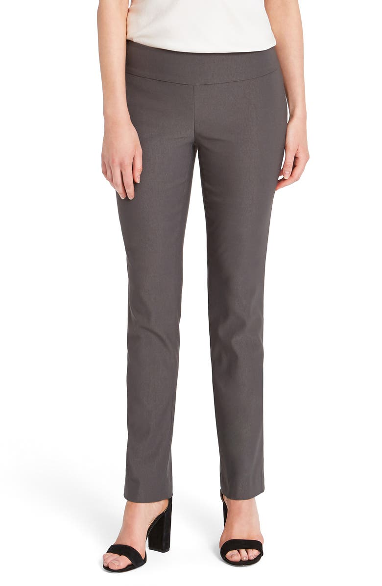 NIC+ZOE Wonderstretch Straight Leg Pants, Main, color, TIMBER