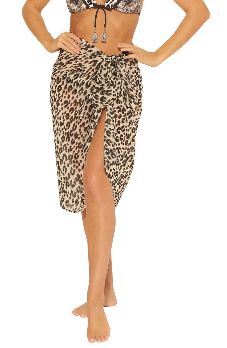 BLEU BY ROD BEATTIE Leopard Print Pareo, Main, color, CHEETAH