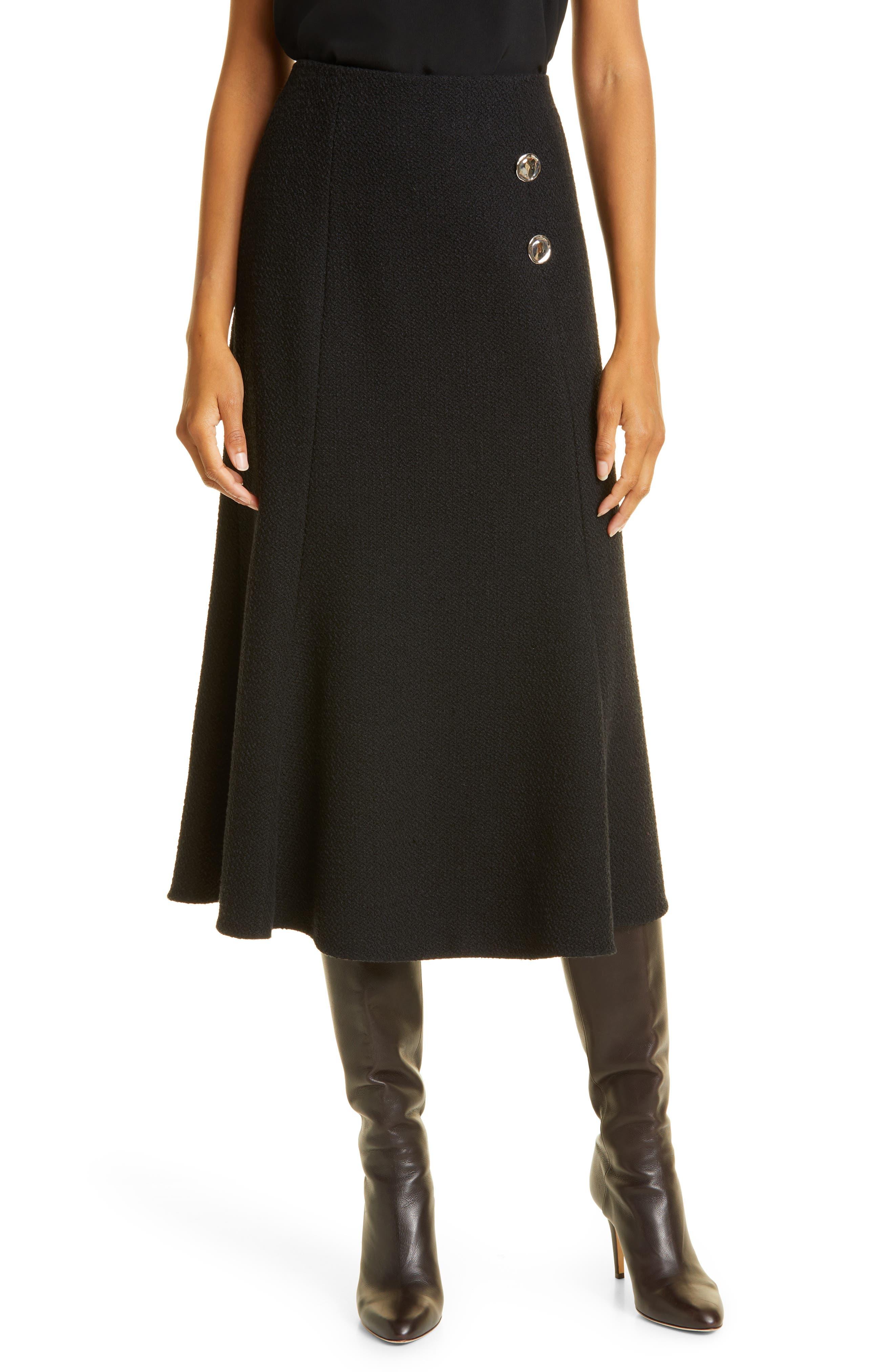 Women's Jason Wu Fit & Flare Boucle Skirt