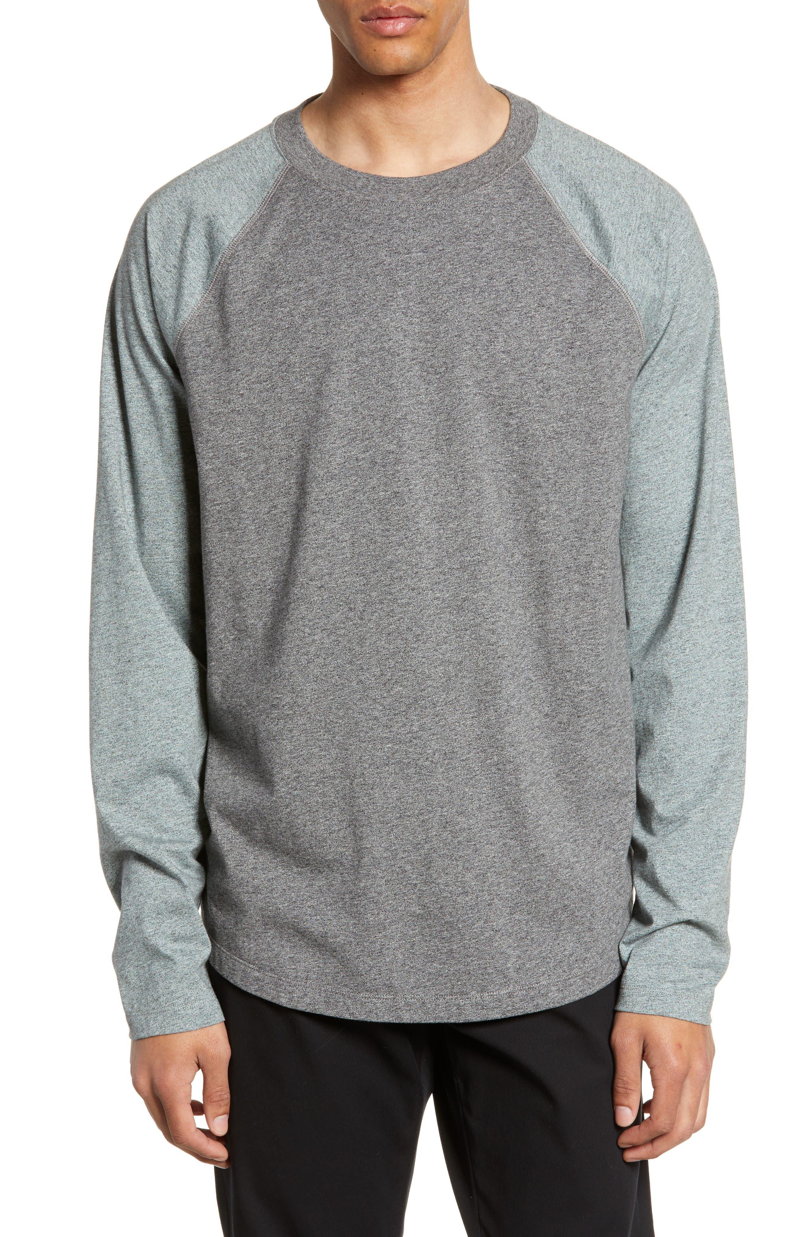 Image of Vince Colorblock Raglan Long Sleeve T-Shirt