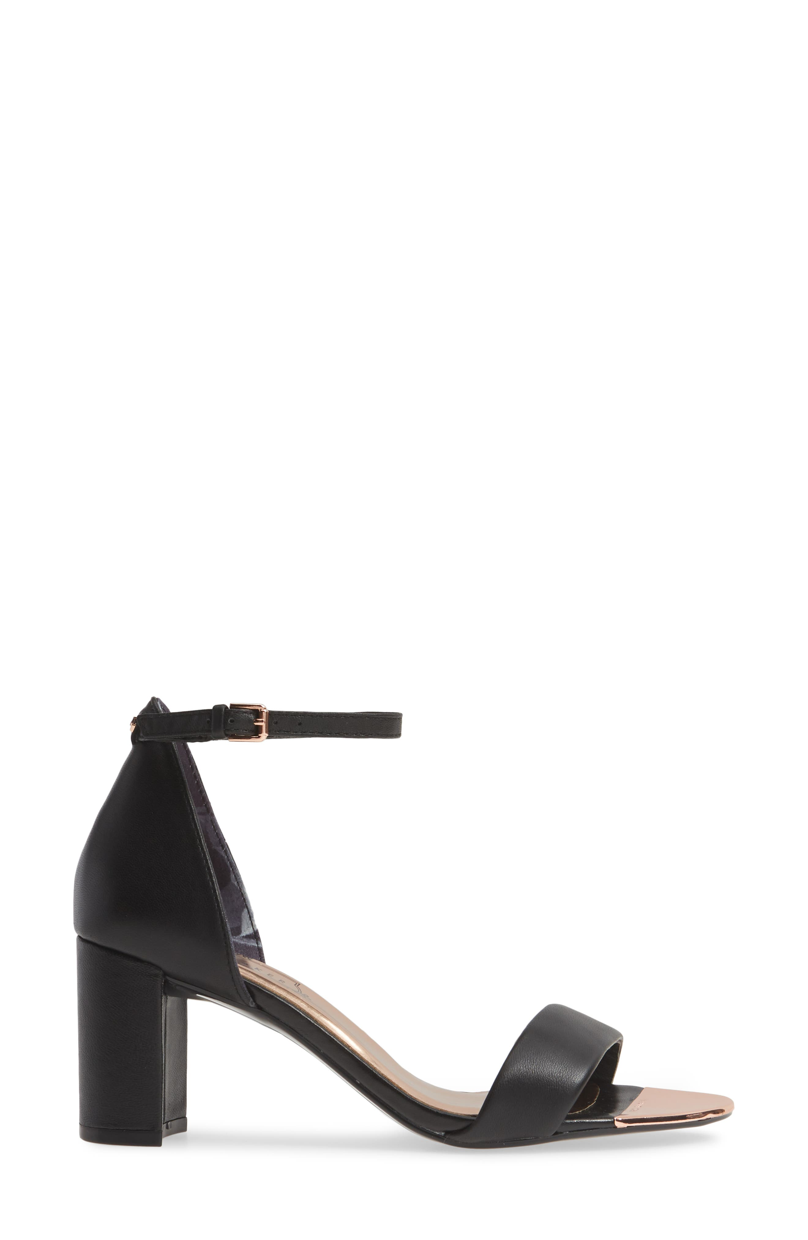 ,                             Shea Ankle Strap Sandal,                             Alternate thumbnail 4, color,                             BLACK LEATHER