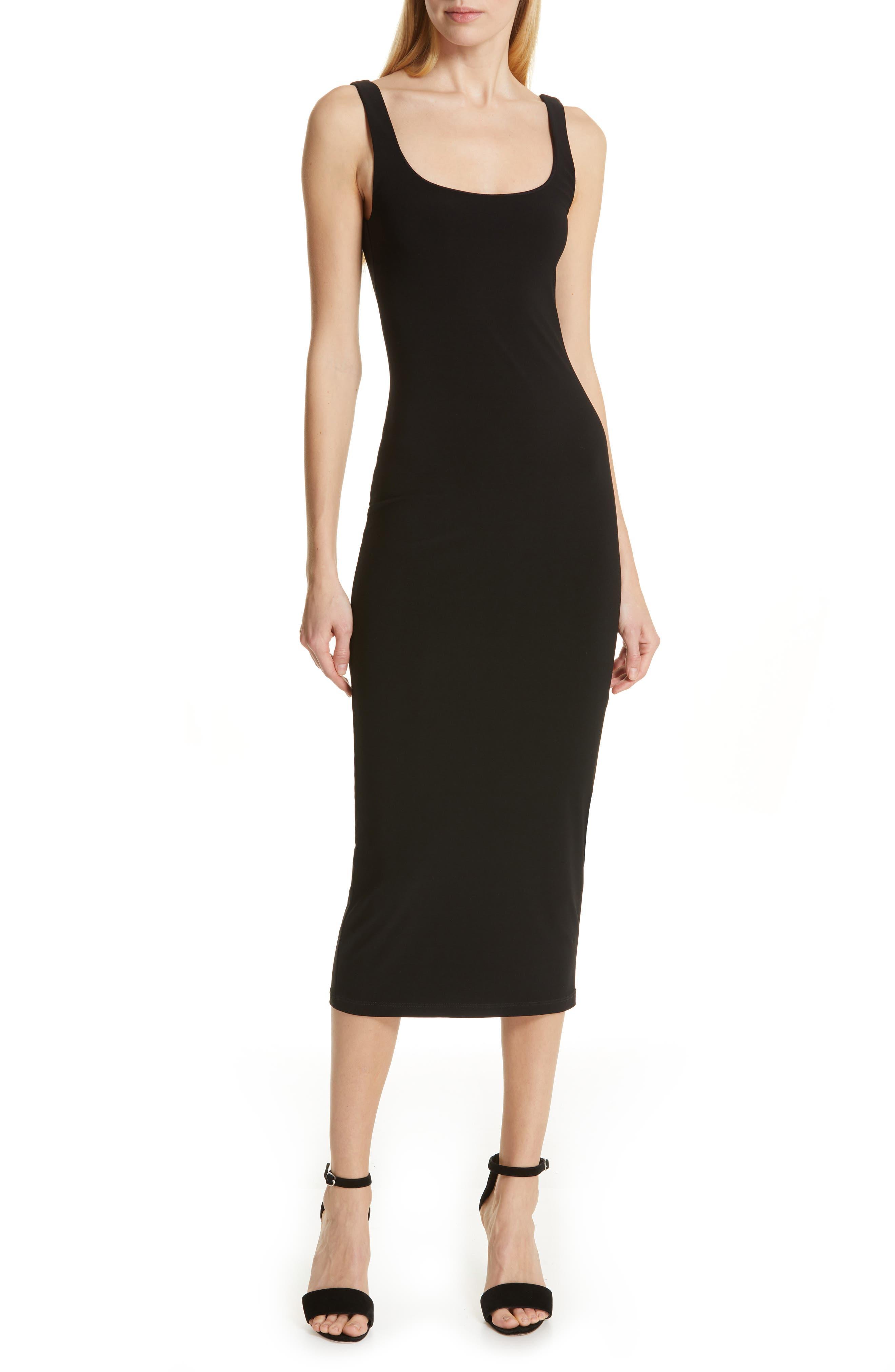 Cinq A Sept Ariella Body-Con Midi Dress, Black