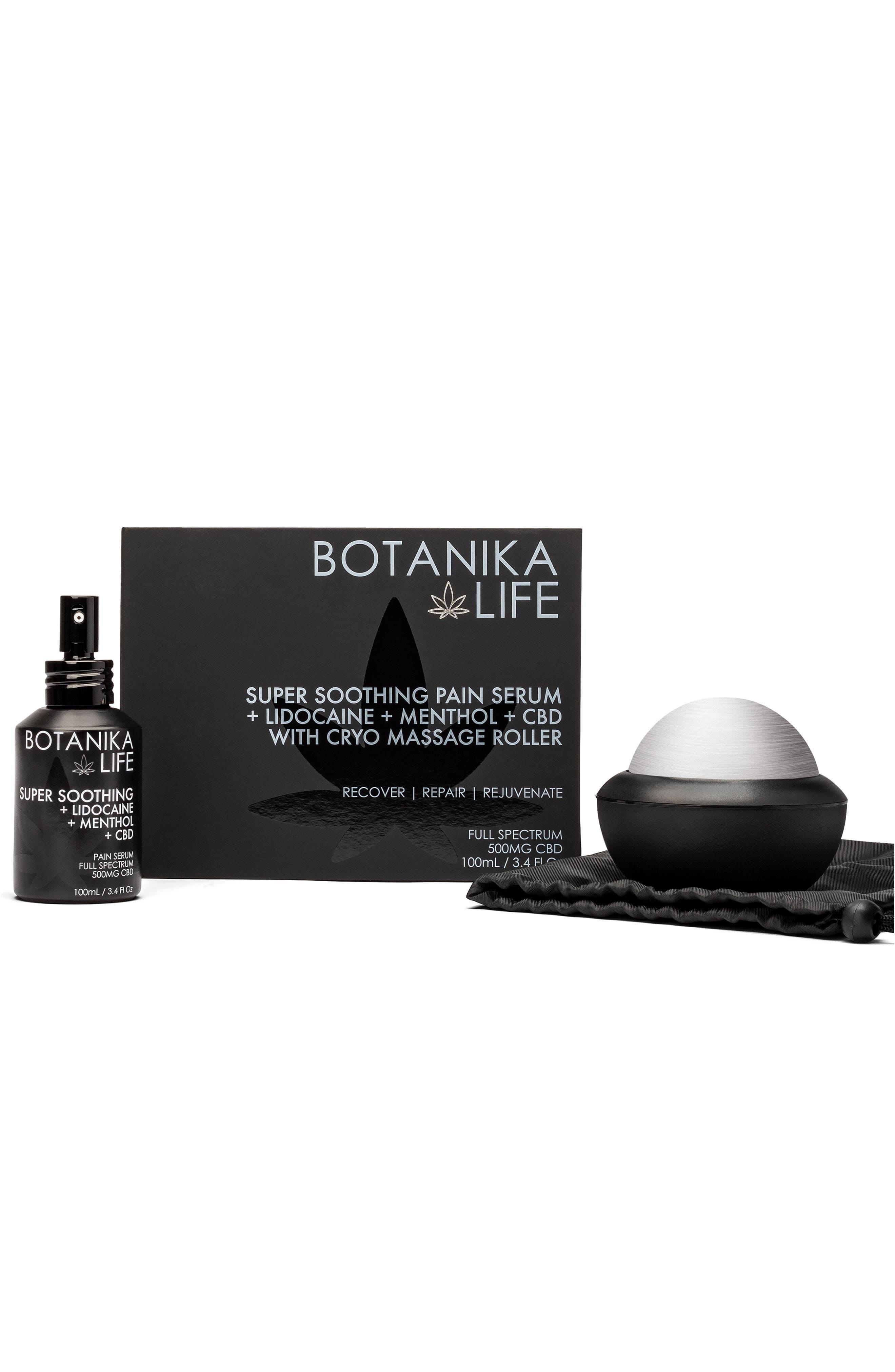 Super Soothing Pain Serum + Cryo Massage Roller Kit Box