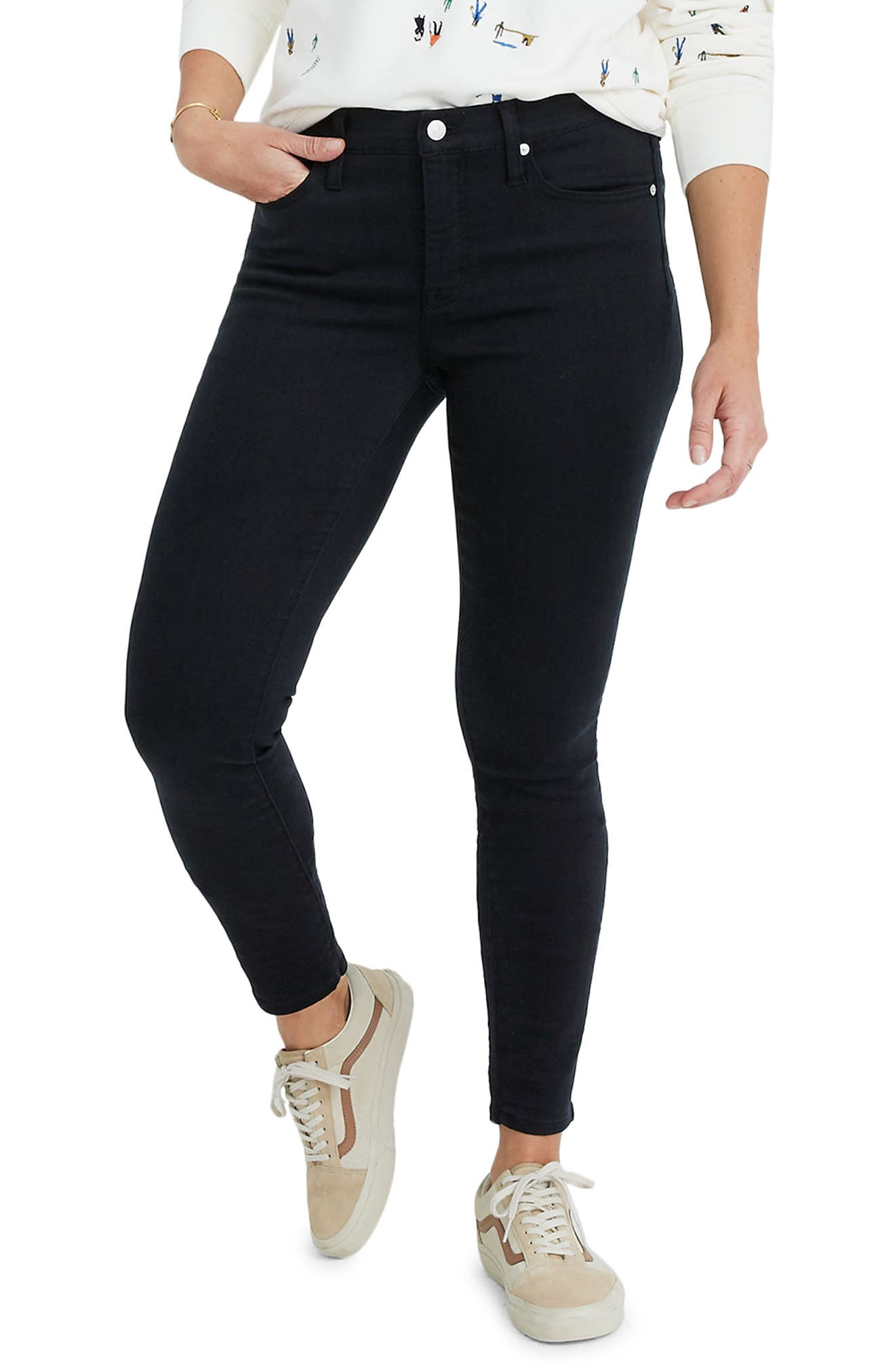 9-Inch High Waist Ankle Skinny Jeans: Tencel Edition