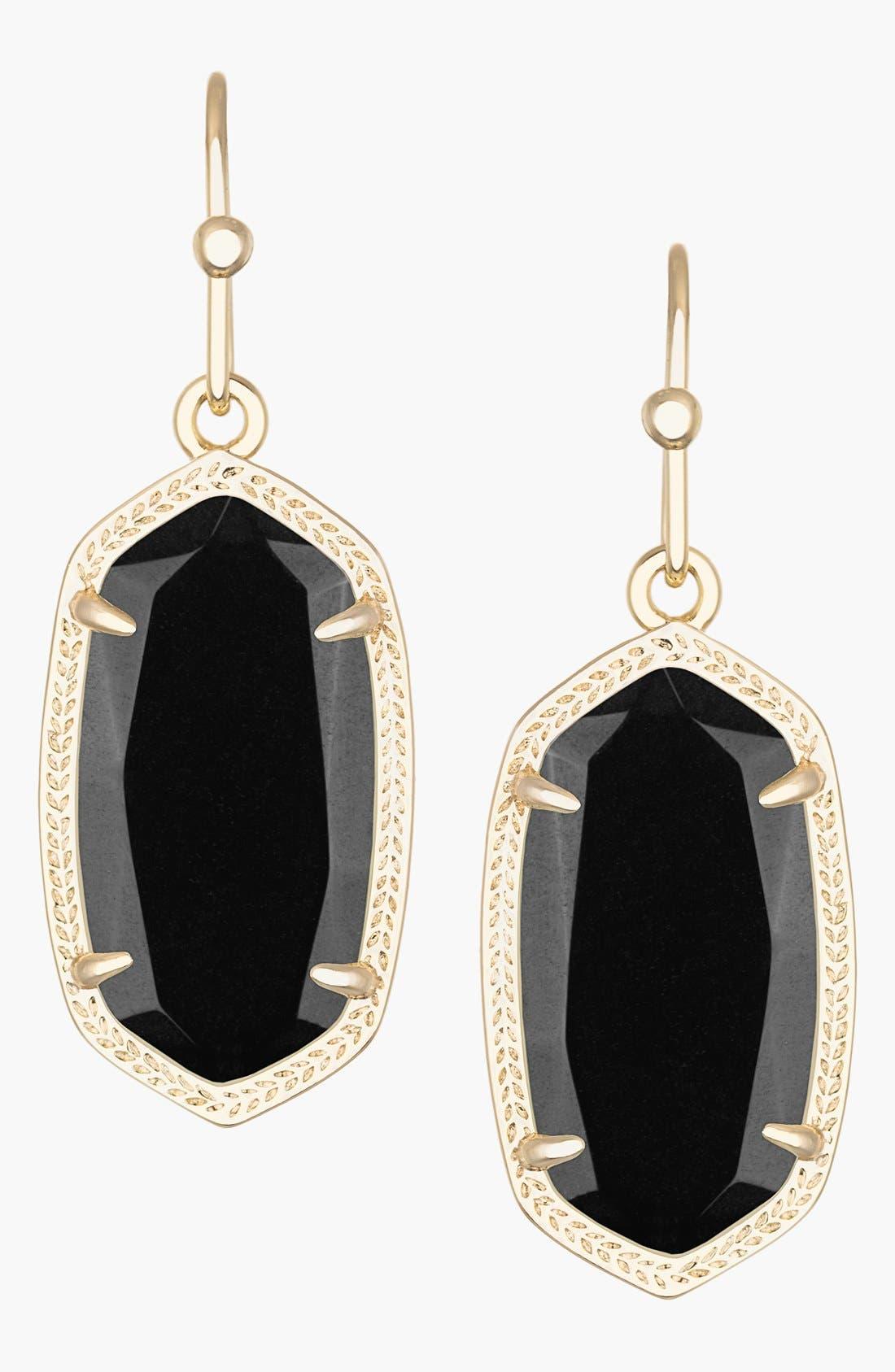 Dani Stone Drop Earrings, Main, color, 001