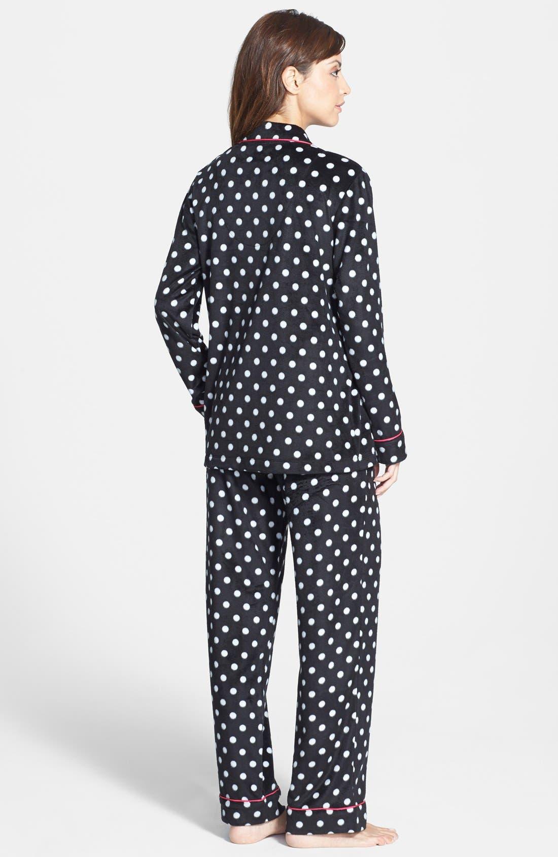 ,                             Long Sleeve Microfleece Pajamas,                             Alternate thumbnail 5, color,                             001