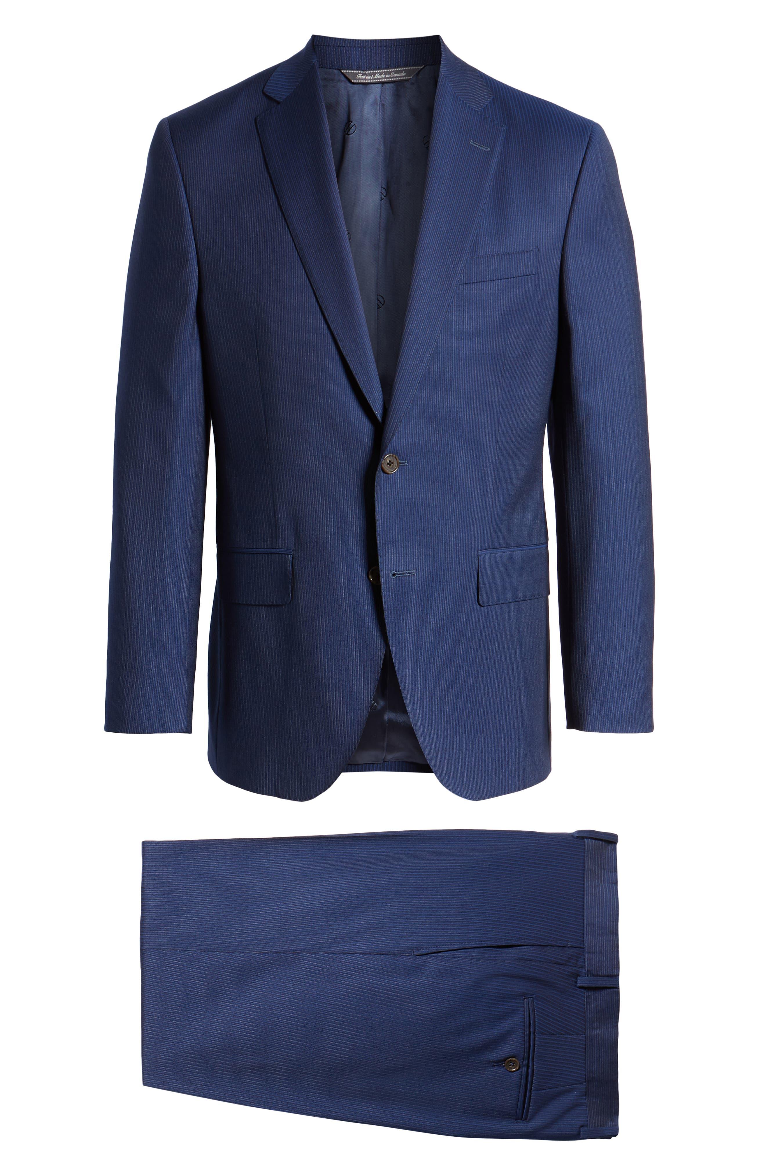,                             Ryan Classic Fit Stripe Wool Suit,                             Alternate thumbnail 8, color,                             410