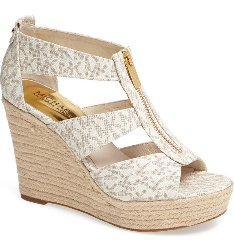 MICHAEL MICHAEL KORS 'Damita' Wedge Sandal, Main, color, 150