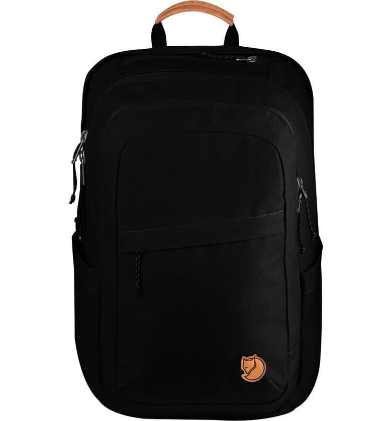 FJÄLLRÄVEN 'Raven 28L' Backpack, Main, color, BLACK