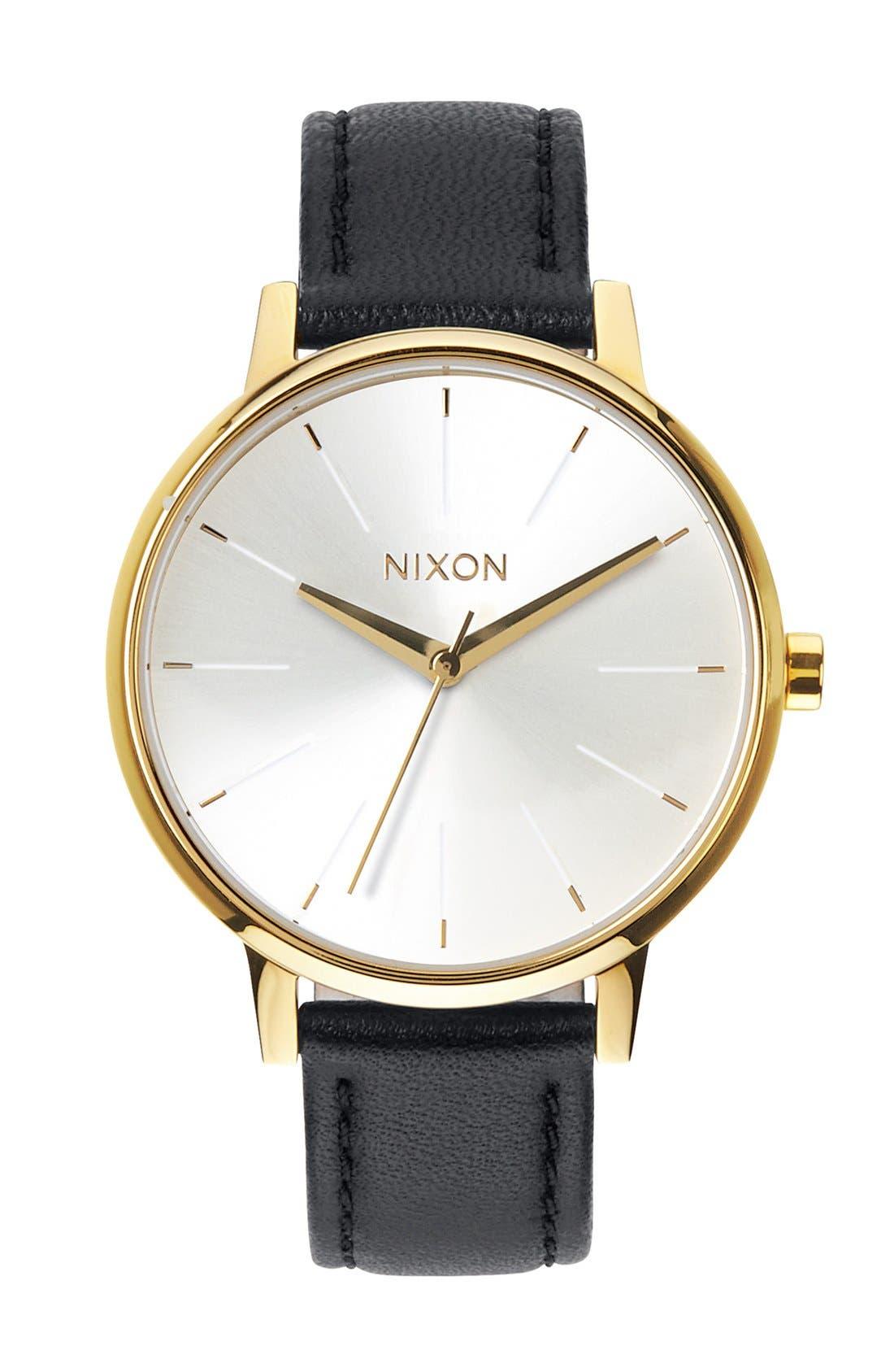 ,                             'The Kensington' Leather Strap Watch, 37mm,                             Main thumbnail 14, color,                             001