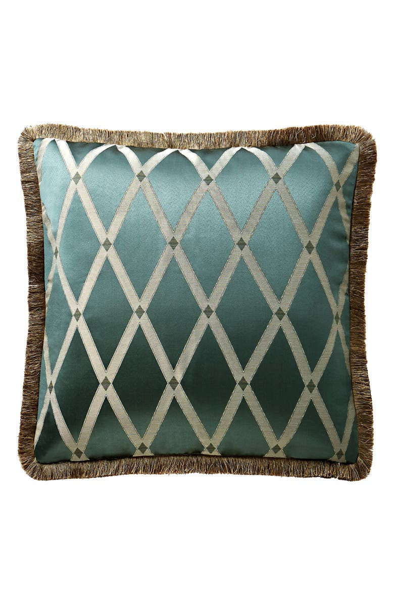 WATERFORD Anora Lattice Euro Sham, Main, color, BRASS/ JADE