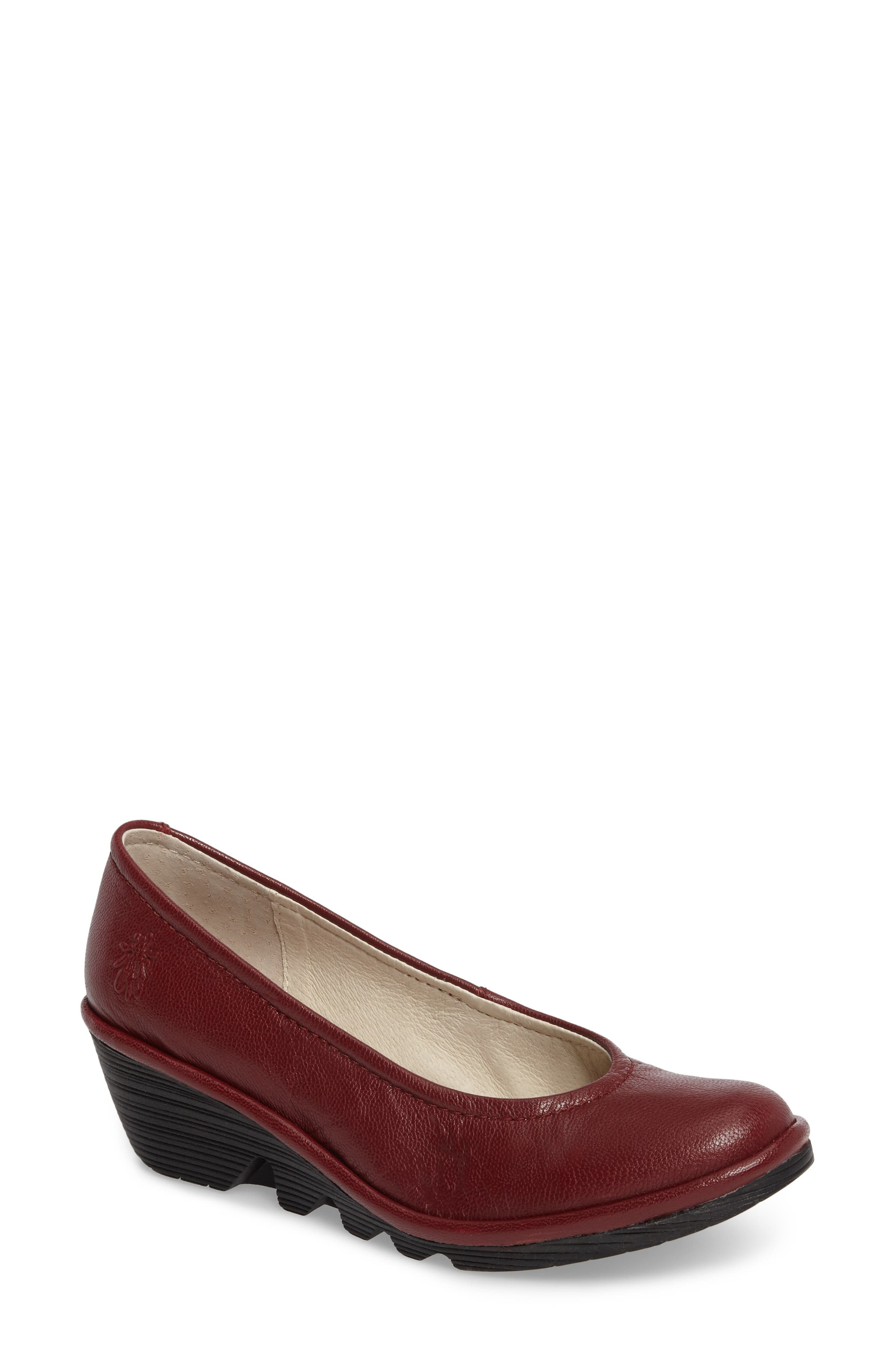 Fly London Mid Wedge Pump - Red