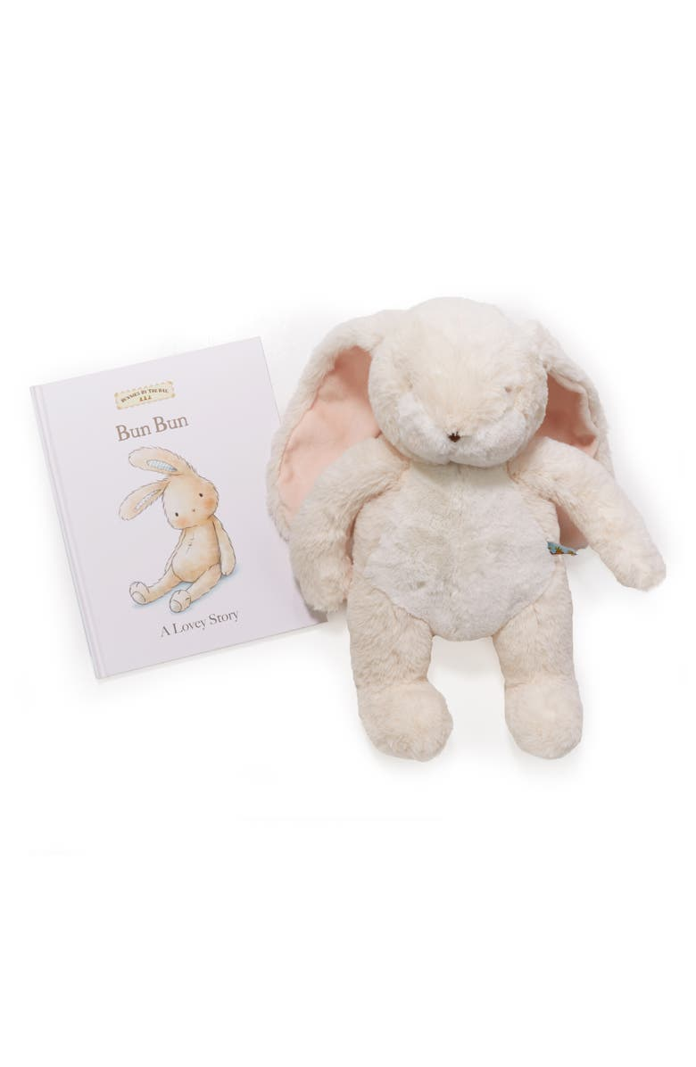 BUNNIES BY THE BAY A Lovey Story Stuffed Animal & Board Book Set, Main, color, CREAM