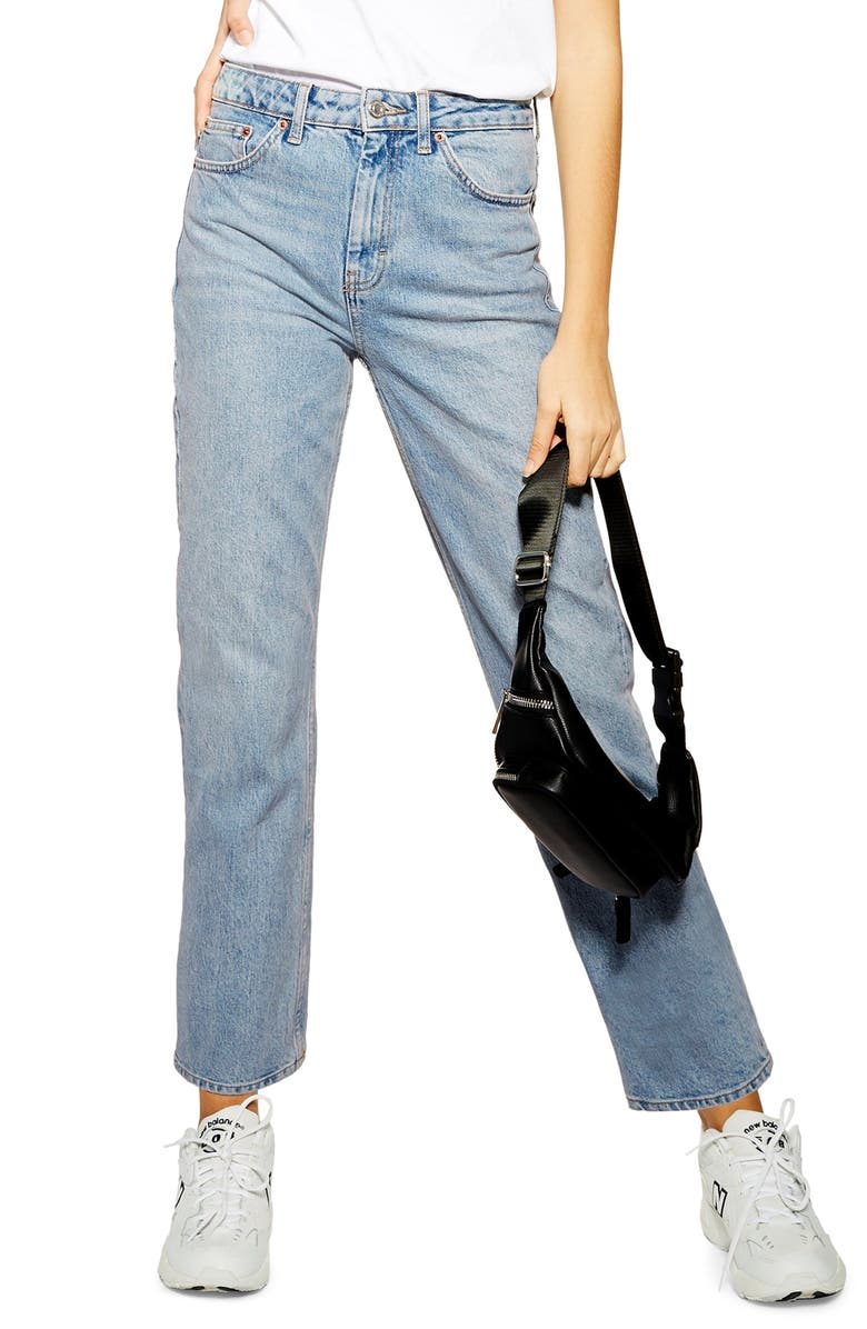 Moto Straight Leg Jeans by Topshop