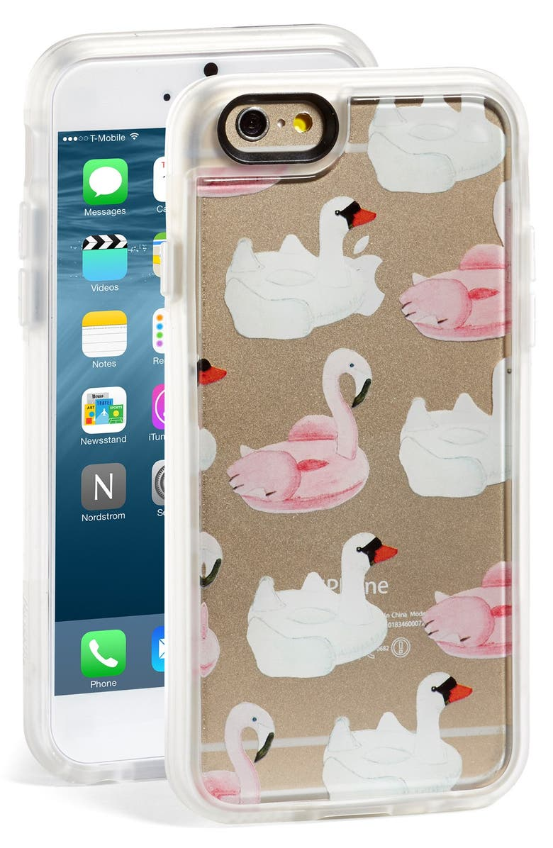 'Pool Float - Swan & Flamingo' iPhone 6 & 6s Case