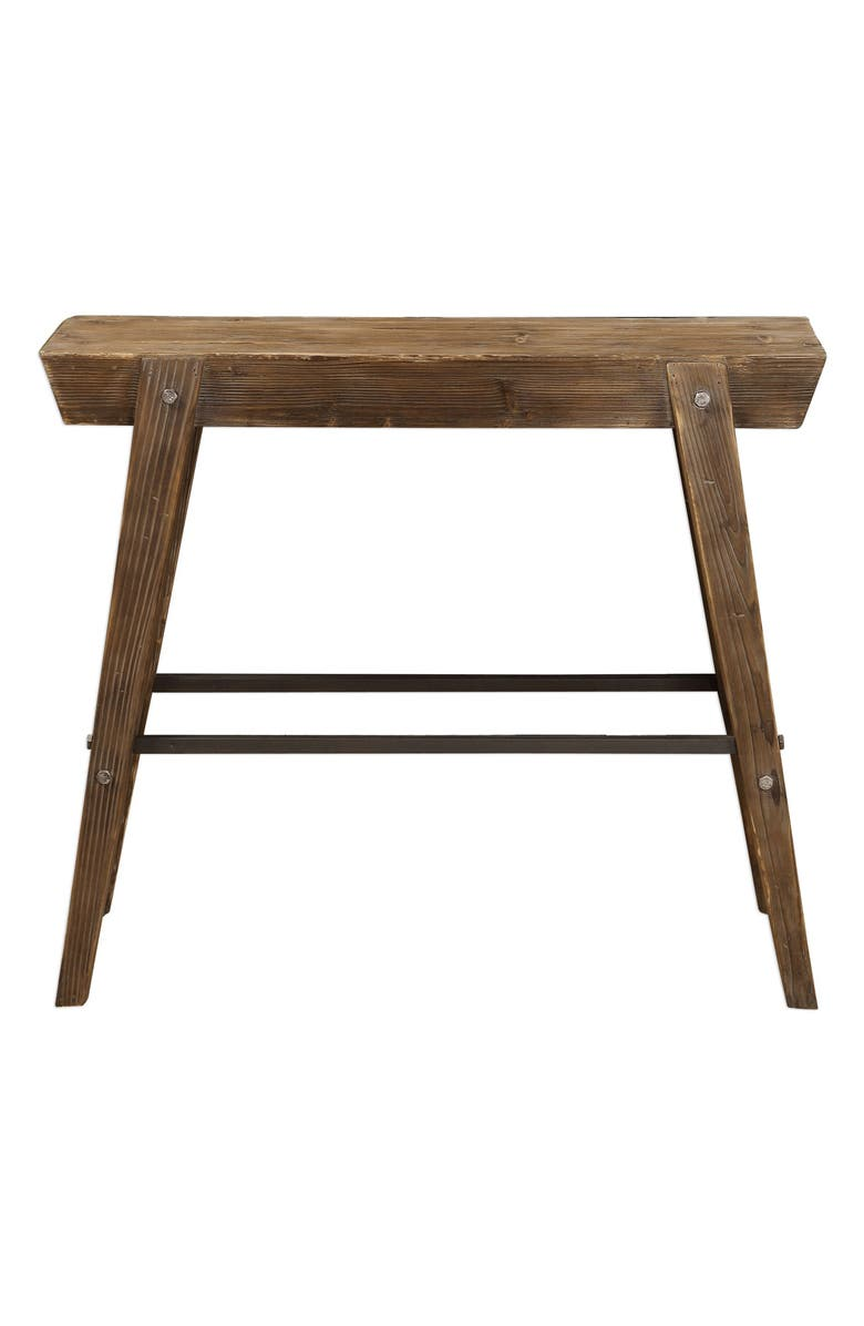 UTTERMOST Hayes Console Table, Main, color, BROWN/ WOODTONE