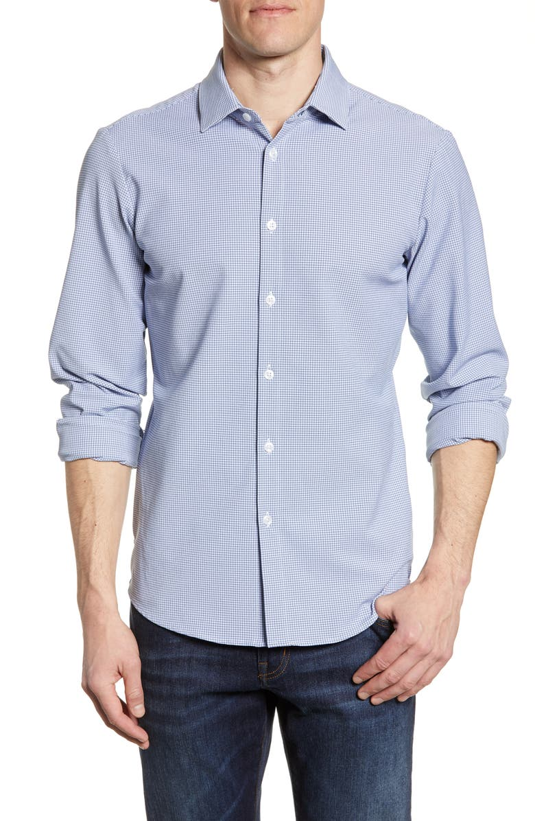 MIZZEN+MAIN Mays Check Performance Shirt, Main, color, 411