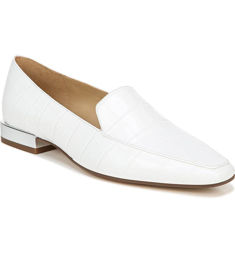 NATURALIZER Clea Loafer, Main, color, WHITE CROCO PRINT