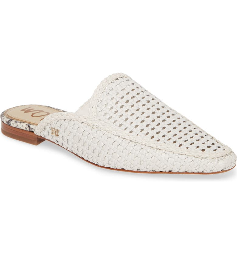 SAM EDELMAN Elva Woven Mule, Main, color, BRIGHT WHITE