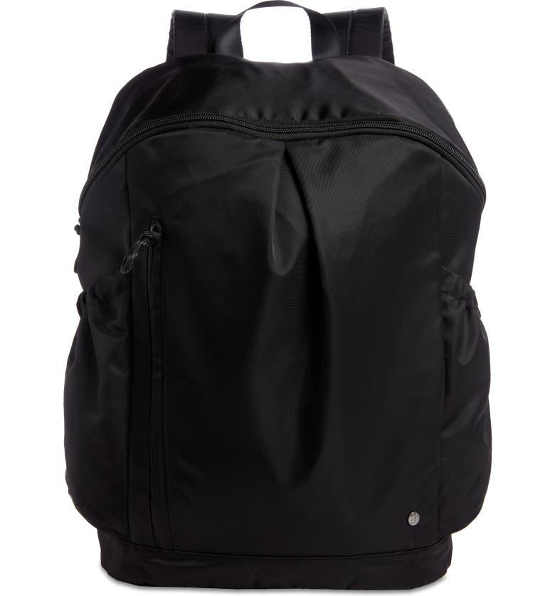 ZELLA Nylon Backpack, Main, color, BLACK