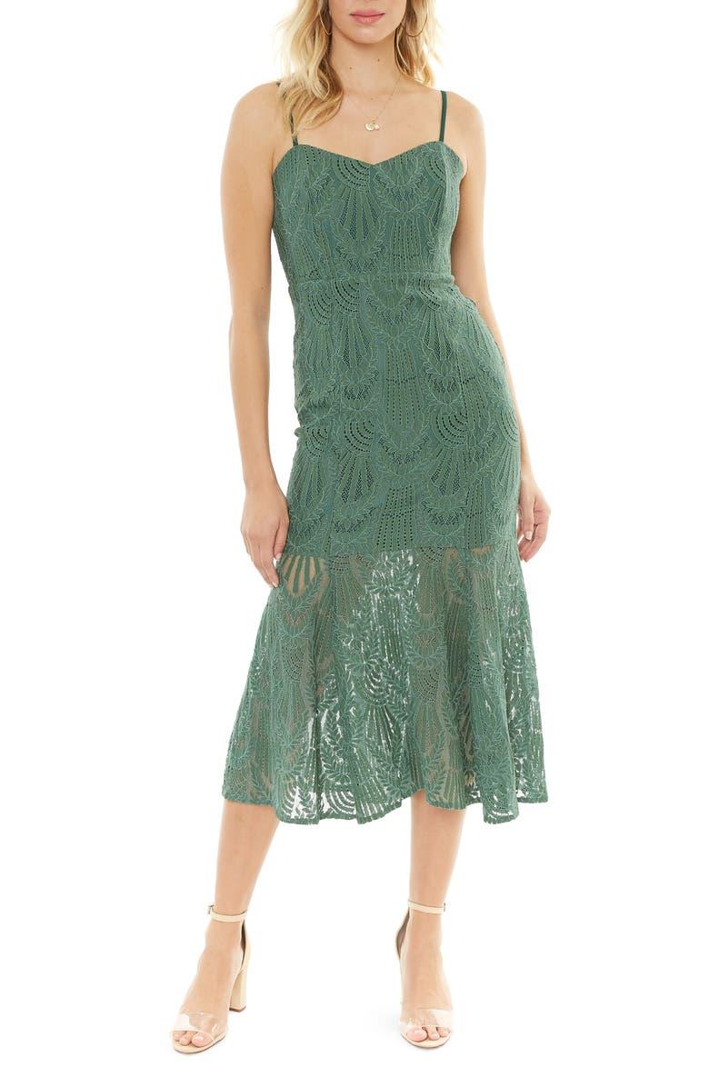 4SI3NNA Sleeveless Lace Midi Dress, Main, color, 300