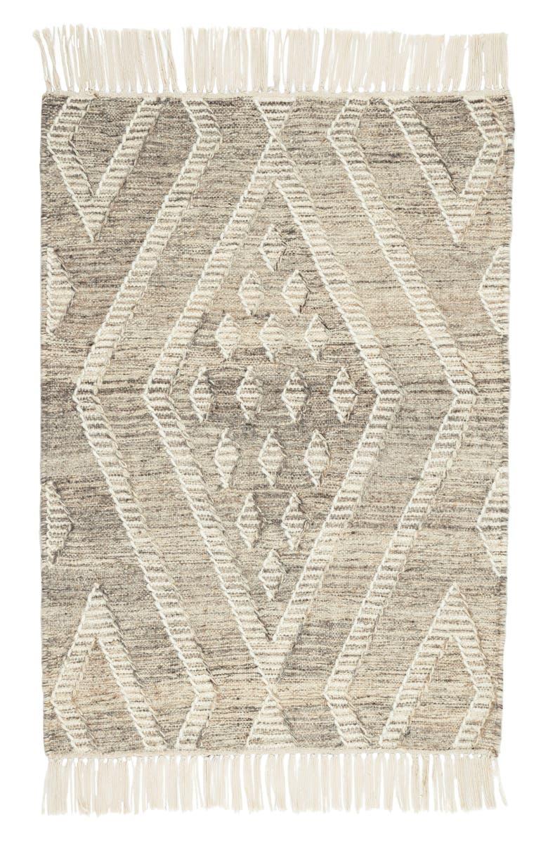 DASH & ALBERT Healy Handwoven Wool Blend Rug, Main, color, GREY
