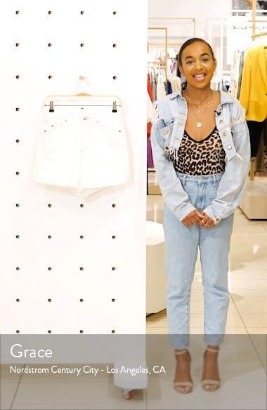 Roll Hem Denim Mom Shorts, sales video thumbnail