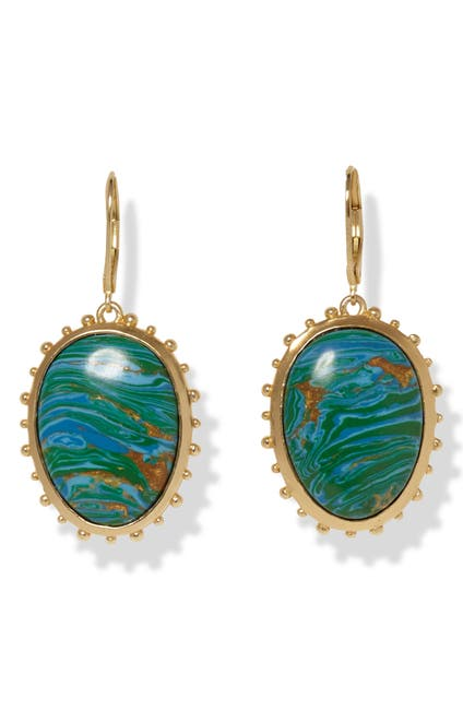 Image of Sole Society Eurowire Chrysocolla Leverback Drop Earrings