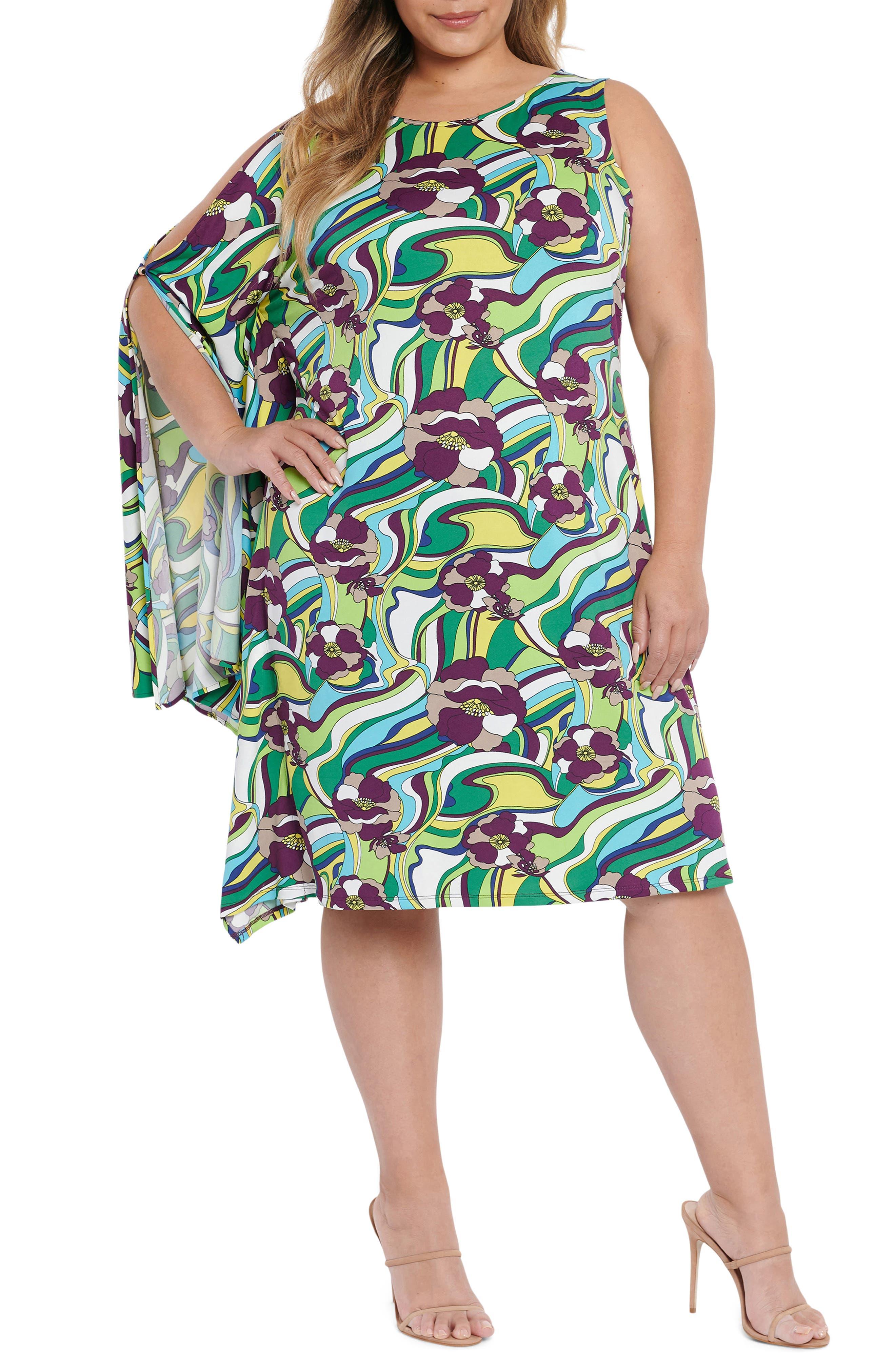 Lesley Drape Sleeve Dress