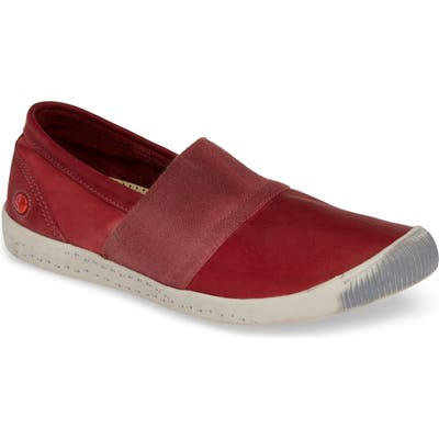 Softinos By Fly London Ino Slip-On Sneaker, Red