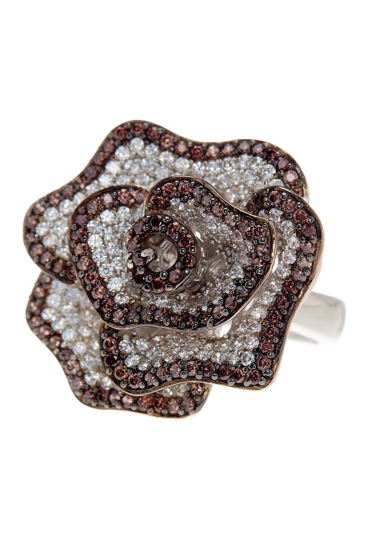 Suzy Levian Sterling Silver Chocolate CZ Ring at Nordstrom Rack