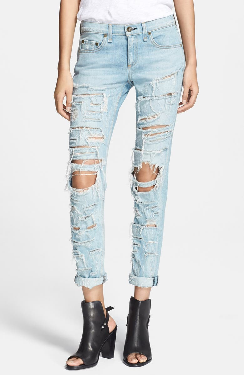 RAG & BONE/JEAN 'The Dre' Destructed Jeans, Main, color, 400