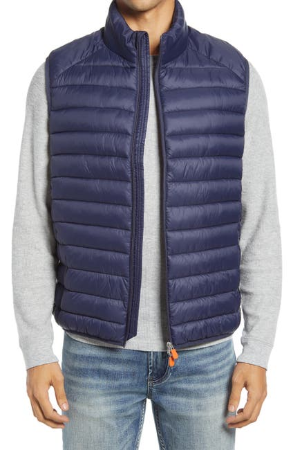 Image of Save The Duck Solid Zip Puffer Vest
