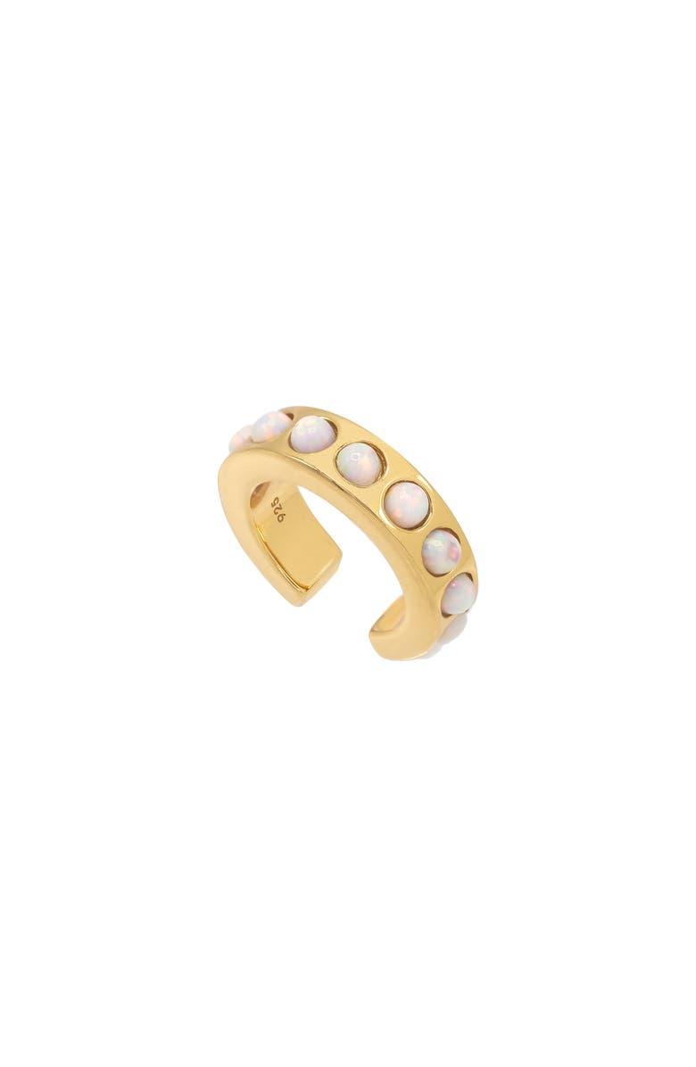 ADINA'S JEWELS Adinas Jewels Opal Ear Cuff, Main, color, GOLD