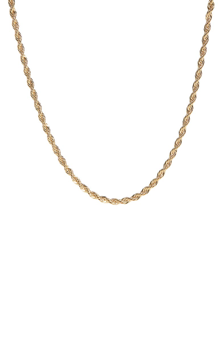 LAURA LOMBARDI Rope Chain Necklace, Main, color, BRASS