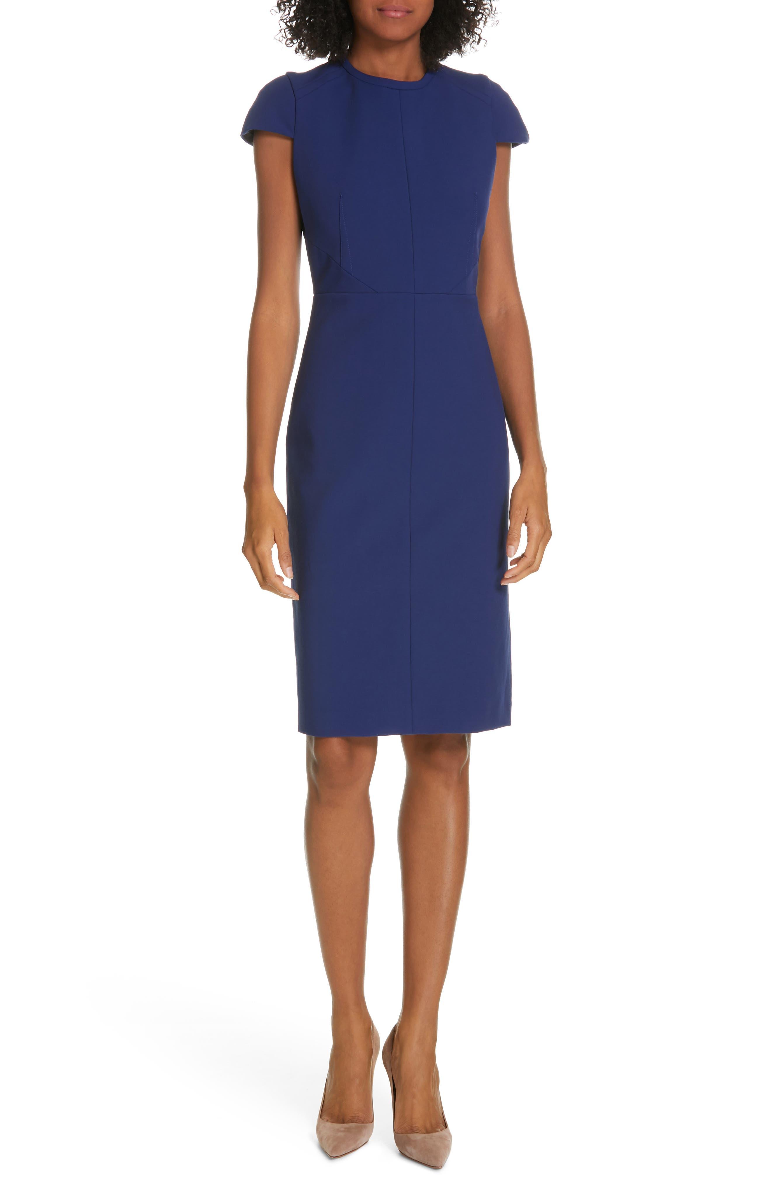Judith & Charles Moss Sheath Dress, Blue