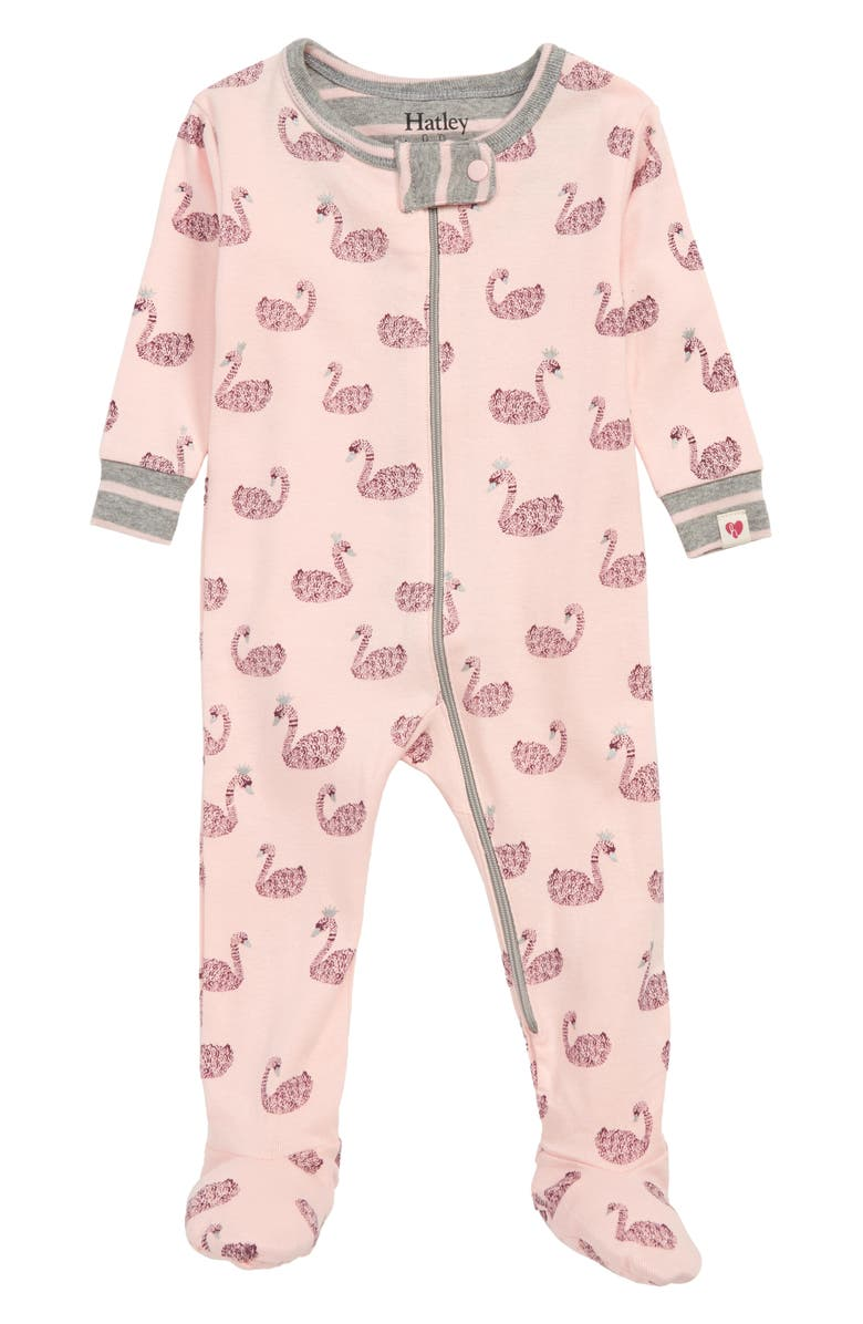 Hatley Swan Lake Organic Cotton Fitted One Piece Pajamas Baby