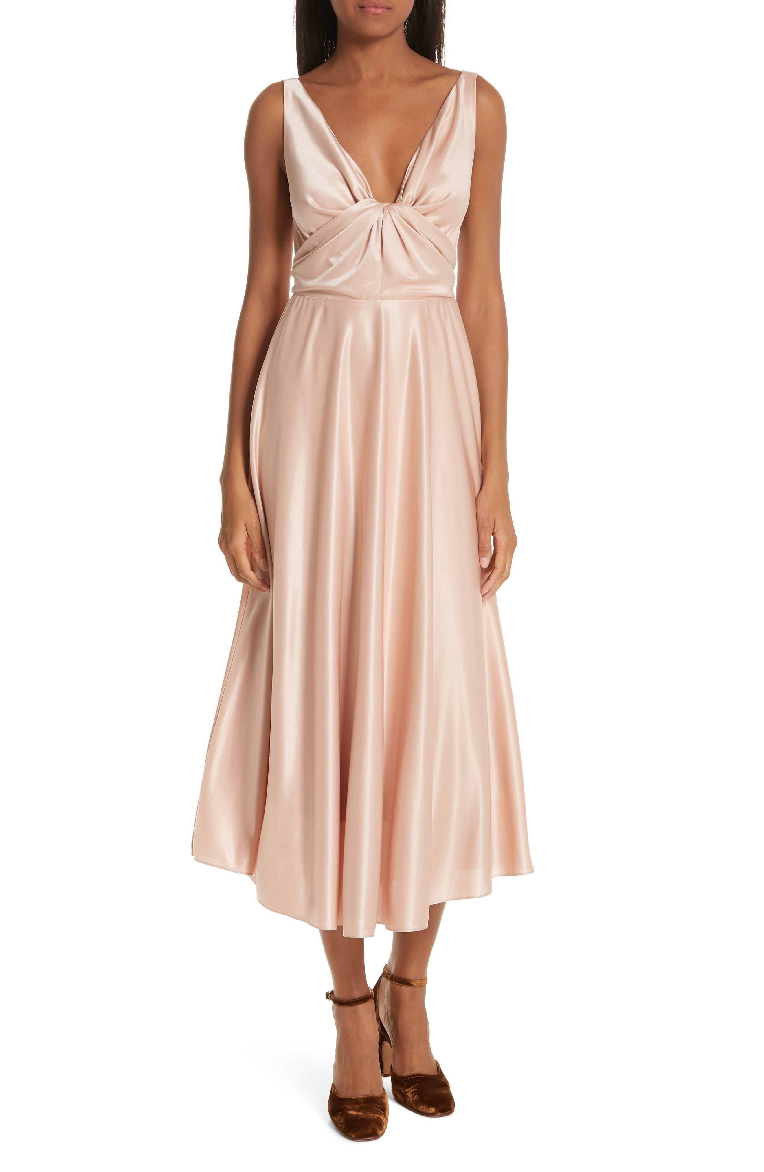 Rachel Comey Badu Satin Midi Dress, Pink