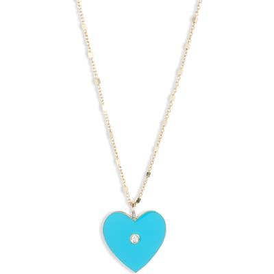 Jennifer Zeuner Fifi Diamond Heart Pendant Necklace