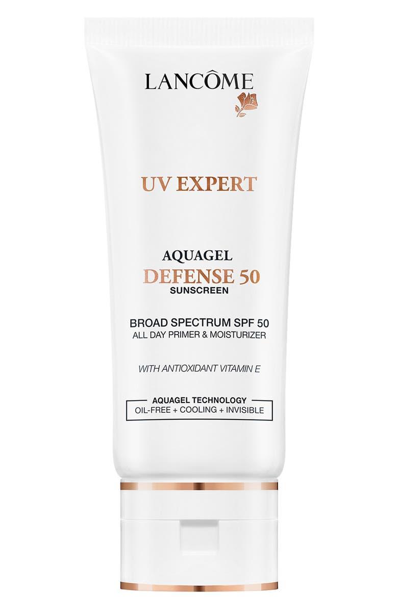 LANCÔME UV Expert Aquagel Defense Primer & Moisturizer SPF 50, Main, color, NO COLOR