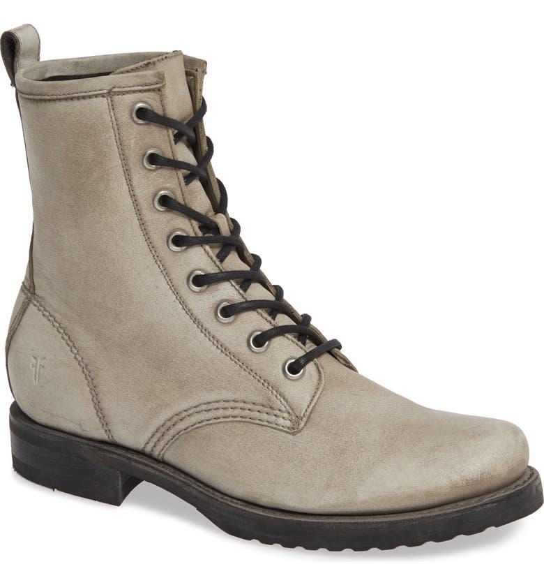 FRYE Veronica Combat Boot, Main, color, GREY/ GREY