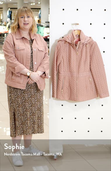 hooded quilted jacket, sales video thumbnail